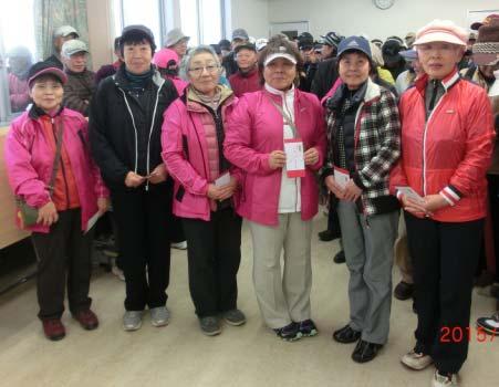 女子Bクラス3位:小泉さん(右から3番目)