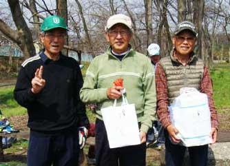 右から、3位:福田さん、ベスグロ優勝:伴さん、準優勝:吉田さん