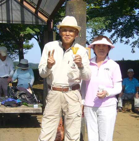 ベストグロス賞 男子:松山紀夫さん、女子:宮下久美子さん