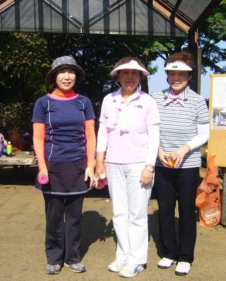 入賞者 優勝&女子ベスグロ:宮下久美子さん、準優勝:舟木りつよさん、3位:野口哲子さん