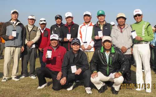 男子Aクラス入賞者 8位:野口勲さん(後列右から三人目)