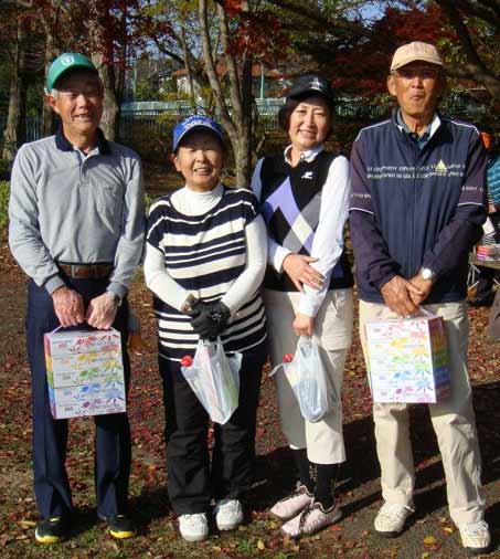 (ベストグロス賞)右から、松山紀夫さん、片山幸代さん、伊藤美晴さん、野口勲さん