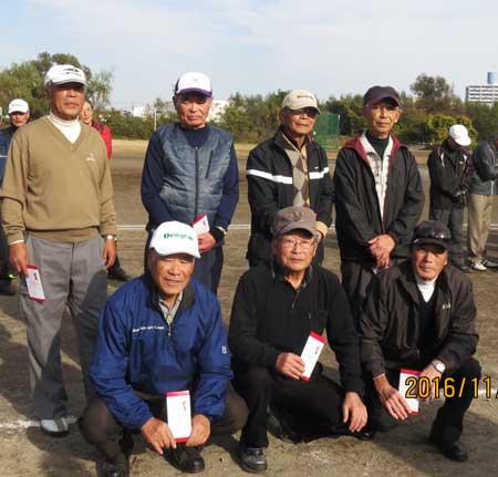 男子Gクラス 後列左から一人目4位:相沢泰彦さん