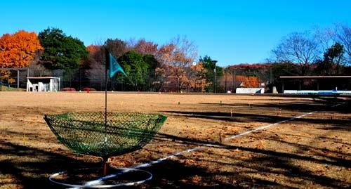今回初めて使用したソフトボール場(10~15番ホール)