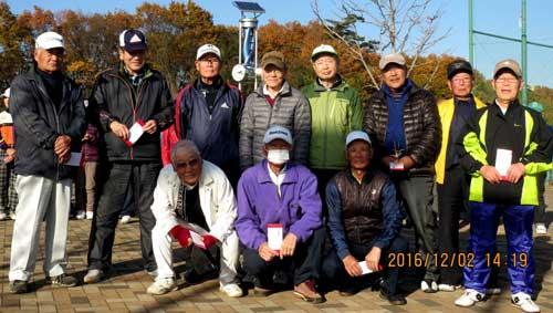 男子の部 後列左から二人目5位:安本好孝さん、後列右から三人目9位:木村紘さん